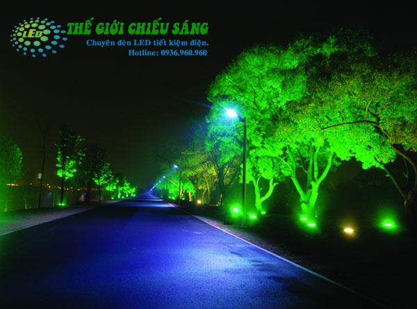 Đèn pha LED 100W xanh lá/xanh dương - đủ 100% công suất