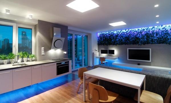 làm đẹp nhà bằng đèn led chiếu sáng 1