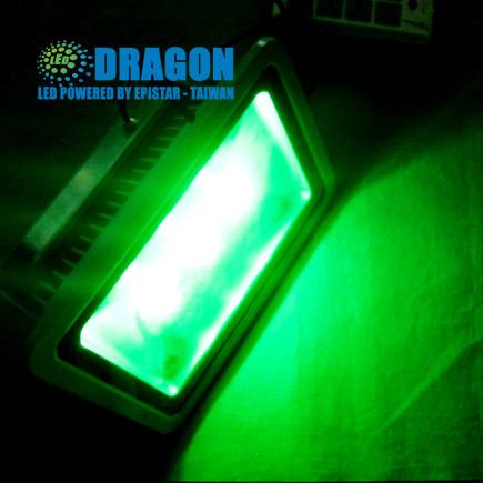 Đèn pha LED 200W xanh lá, xanh dương - đủ 100% công suất