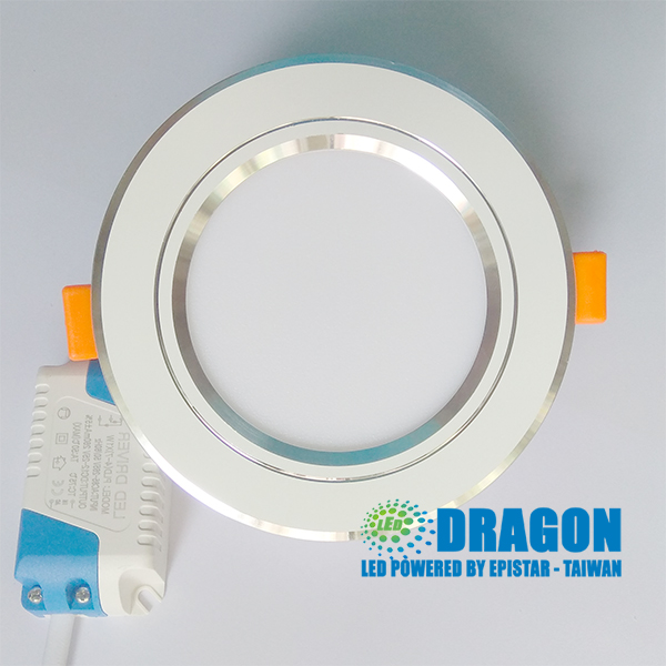 Đèn LED âm trần 7W 3 chế độ vỏ nhôm