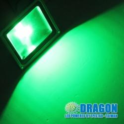 đèn pha led xanh lá chiếu sáng sân vườn