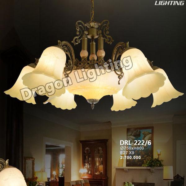 Đèn treo cổ điển châu Âu Dragon DRL-222/6
