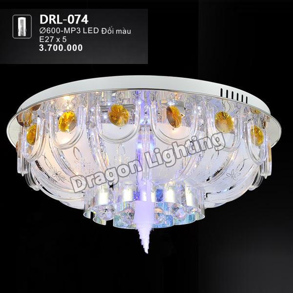 Đèn mâm tròn pha lê Dragon DRL-074