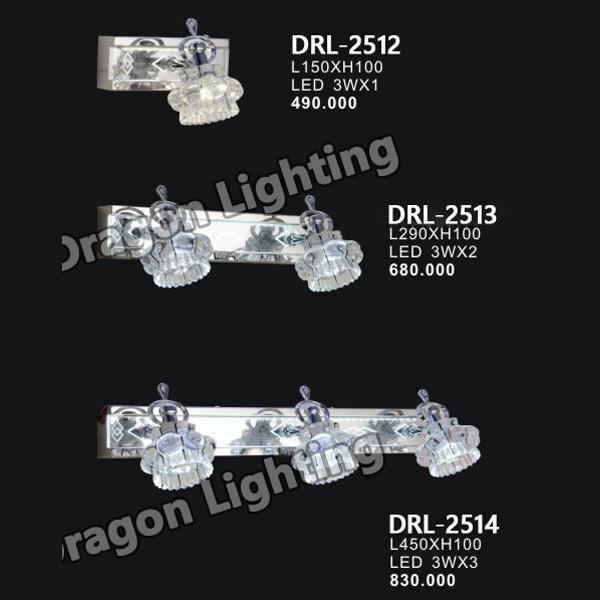 Đèn soi gương/soi tranh thủy tinh 3D Dragon DRL-2512