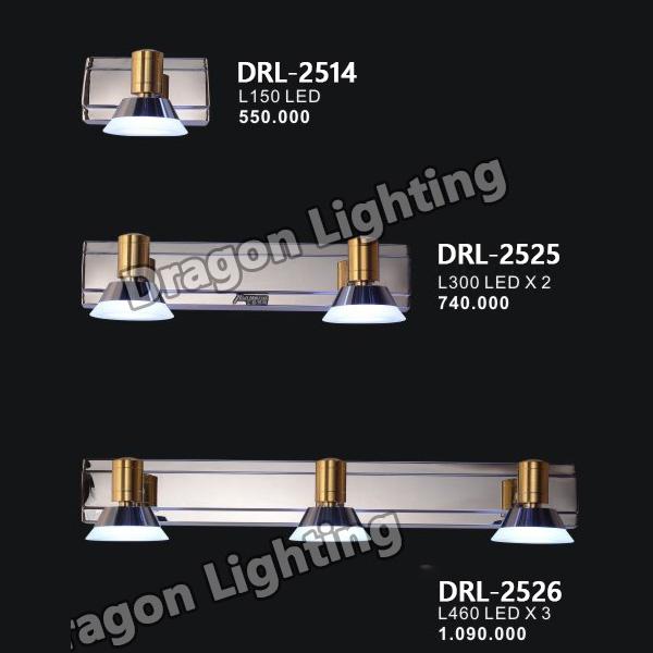 Đèn soi gương/soi tranh viền vàng Dragon DRL-2514