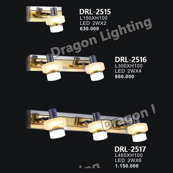 Đèn soi gương/soi tranh mạ vàng Dragon DRL-2515
