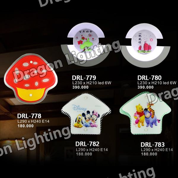Đèn tường trẻ em Dragon DRL-779