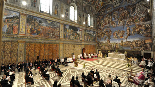 Cận cảnh 7.000 chiếc đèn LED chiếu sáng bức tranh 500m2 ở Vatican