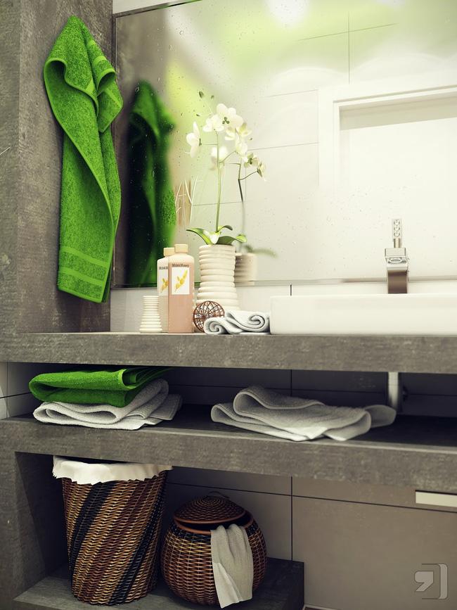 Bày  trí LED đèn giúp nhà tắm đẹp như khách sạn