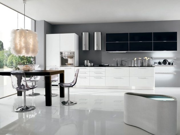 19 Ý tưởng bố trí đèn LED cho nhà bếp rộng thênh thang