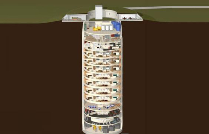 Hệ thống đèn LED trong căn hộ chống đạn hạt nhân của giới siêu giàu