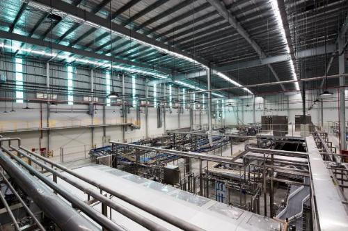 Hệ thống đèn LED tại nhà máy 56 triệu USD PepsiCo tại VN