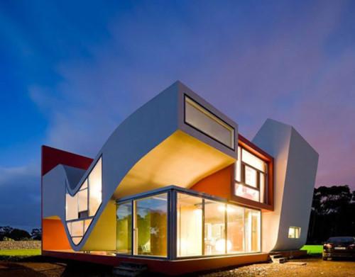 Những ngôi nhà siêu ấn trượng với đèn LED