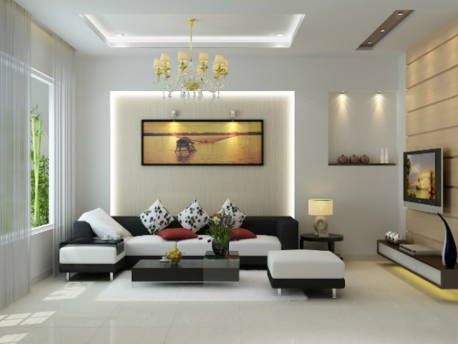 6 kiểu đèn trang trí phòng khách đẹp mê ly