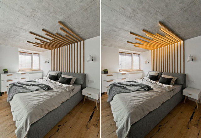 Bày đèn LED phòng ngủ theo cách người Mỹ
